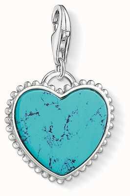 Thomas Sabo Turquoise Heart Charm 1468-404-17