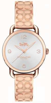 Coach Womans Delancey Watch Rose Gold Tone 14502893