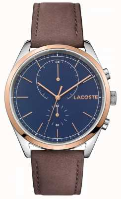 Lacoste Mens San Diego Leather Strap Blue Dial 2010917