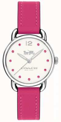 Coach Womans Delancey Watch Pink Leather Strap 14502906
