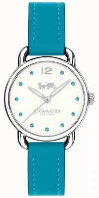 Coach Womans Delancey Watch Blue Leather Strap 14502911