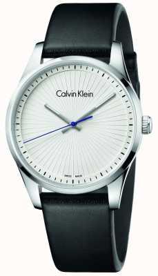 Calvin Klein Unisex Steadfast Watch Black Leather K8S211C6