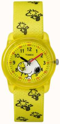 Timex Youth Analogue Yellow Strap Woodstock Snoopy TW2R41500JE