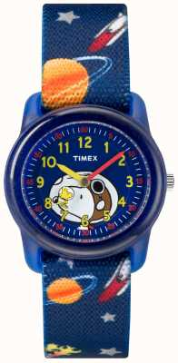 Timex Youth Analogue Blue Strap Snoopy Outer Space TW2R41800JE