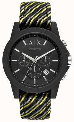 Armani Exchange Mens Outerbanks Silicone Strap AX1334