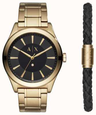 Armani Exchange Mens Nico Two Tone Bracelet Gift Set AX7104