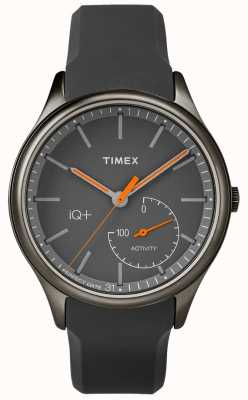 Timex Mens IQ Plus Move Grey Silicone Strap TW2P95000