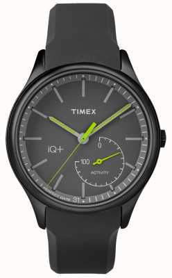 Timex Mens IQ Plus Move Black Silicone Strap TW2P95100