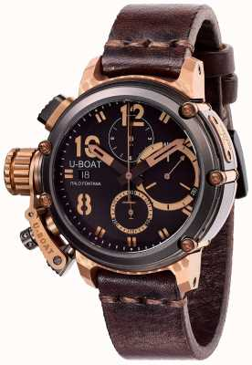 U-Boat Limited Edition Chimera 43mm  B & B Chrono Brown Leather 8015