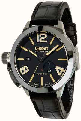 U-Boat Stratos 45 BK Automatic Black Leather Strap 9006