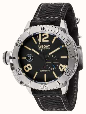 U-Boat Sommerso 46 BK Automatic Black Rubber Strap 9007