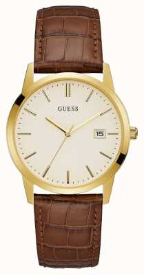 Guess Mens Camden Dress Date Watch Gold W0998G3