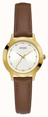 Guess Womens Chelsea Round Gold Watch W0993L2