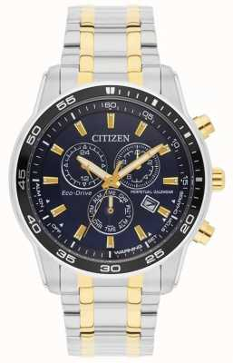 Citizen Mens | Eco-Drive | Stainless Steel Strap |  Black Dial | BL5514-53L