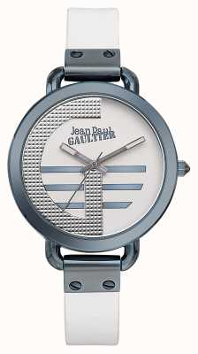 Jean Paul Gaultier Womens Index G White Leather Strap White Dial JP8504316