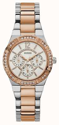 Guess Womans Envy Chronograph Watch Two Tone W0845L6