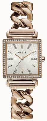 Guess Womans Vanity Watch Rose Gold Tone W1030L4
