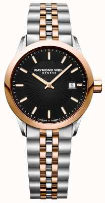 Raymond Weil Womens Freelancer Quartz Watch Two Tone Bracelet 15629-SP5-20021