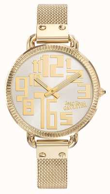 Jean Paul Gaultier Womens Index Gold PVD Mesh Silver Dial JP8504309