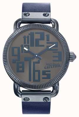 Jean Paul Gaultier mens Index Black Leather Strap Bronze Dial JP8504406