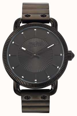Jean Paul Gaultier Mens Index Black Stainless Steel Bracelet Black Dial JP8504402