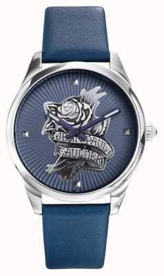 Jean Paul Gaultier Navy Tatoo Blue Leather Strap Blue Dial JP8502413