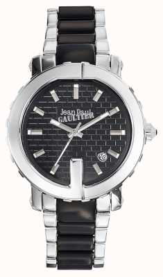 Jean Paul Gaultier Womens Point G Stainless Steel Bracelet Black Dial JP8500513