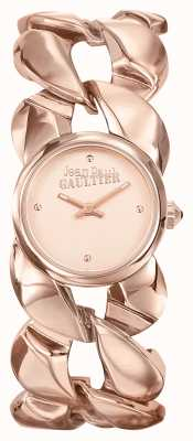 Jean Paul Gaultier Womens Maxi Chaine Rose Gold PVD Bracelet Rose Gold Dial JP8504603