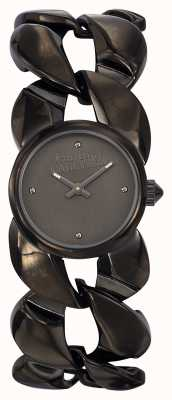 Jean Paul Gaultier Womens Maxi Chaine Gun Metal Bracelet And Dial JP8504604