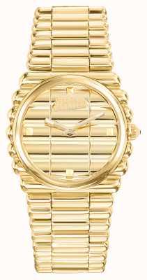 Jean Paul Gaultier Womens Bord Cote Gold PVD Bracelet Gold Dial JP8504102