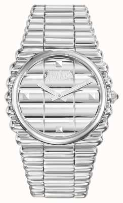 Jean Paul Gaultier Mens Bord Cote Stainless Steel Bracelet Silver Dial JP8504201