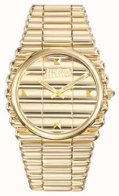 Jean Paul Gaultier Mens Bord Cote Gold PVD Bracelet Gold Dial JP8504202