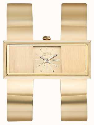 Jean Paul Gaultier Womens Double Jeu Gold PVD Bracelet Gold Dial JP8505006