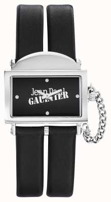 Jean Paul Gaultier Womens 325 Black Leather Strap Black Dial JP8501609