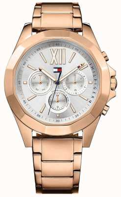 Tommy Hilfiger Womens Chelsea Rose Gold PVD Plated Silver Dial 1781847