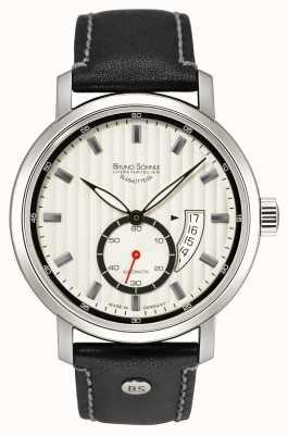 Bruno Sohnle Pesaro II Automatic 44mm Black Leather Watch 17-12150-267