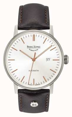 Bruno Sohnle Stuttgart Big Automatic 44mm Black Leather Watch 17-12173-245