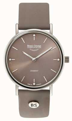Bruno Sohnle Flamur II 35mm Grey Leather Watch 17-13124-891