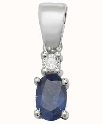 Treasure House 9ct White Gold Sapphire And Diamond  Pendant Only PD240WS