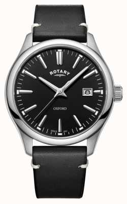 Rotary Mens Oxford Black Stainless Steel Quartz Watch GS05092/04