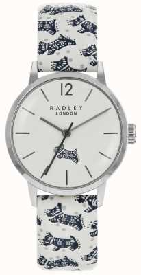 Radley Womans Folk Dog White Dial Silver Stainless Steel Case RY2571