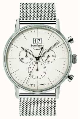 Bruno Sohnle Stuttgart Chronograph 42mm Quartz Stainless Steel White Dial 17-13177-240