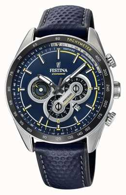 Festina Chronograph Day & Date Display Blue Dial Blue Leather F20202/2