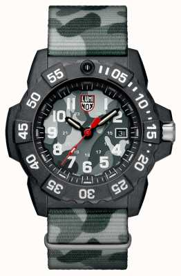 Luminox Navy Seal 3500 Camo Dial White Figures Camo Nylon Strap XS.3507.PH