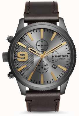 Diesel Mens Rasp Chronograph 50mm Brown Leather Strap DZ4467