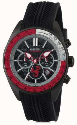 Breil Abarth Stainless Steel IP Black Chronograph Black & Red Dia TW1693