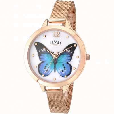 Limit womens Secret Garden rose gold butterfly watch 6271.73