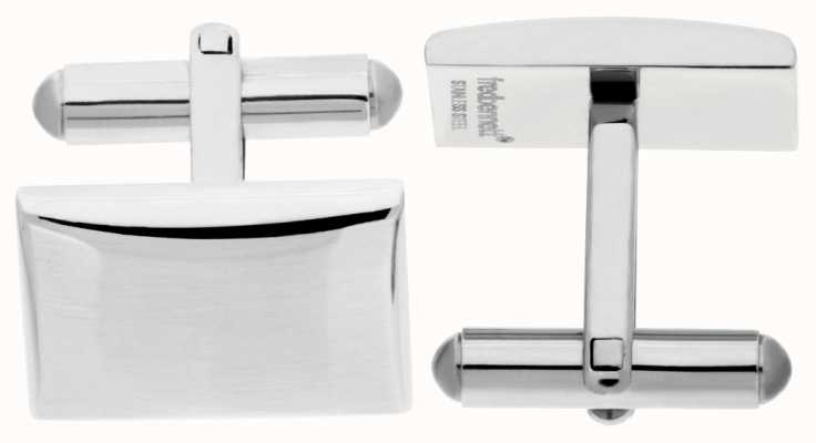 Fred Bennett Mens Stainless Steel Rectangle Cuff Links V509