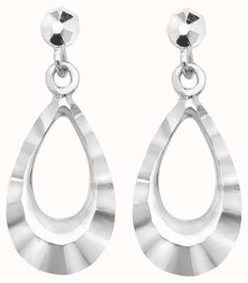 Treasure House 9k White Gold Drop Stud Earrings ES452W