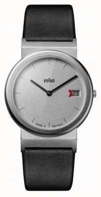 Braun Braun Classic 1989 Tribute Design Black Leather Strap Grey AW50